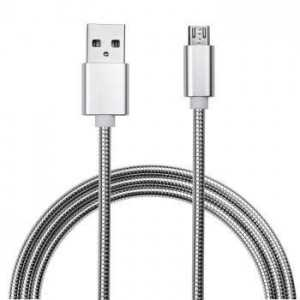 MYAXE USB Data Cable micro-USB Metal - Silver