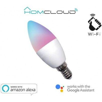 Lampadina Wi-FI RGB + Bianco Caldo E14 Dimmerabile