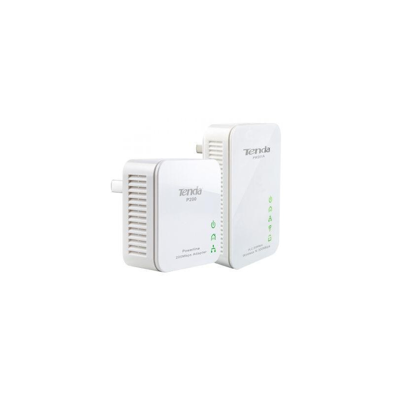 Tenda PW201A+P200 300Mbps WiFi Powerline Extender Starter Kit