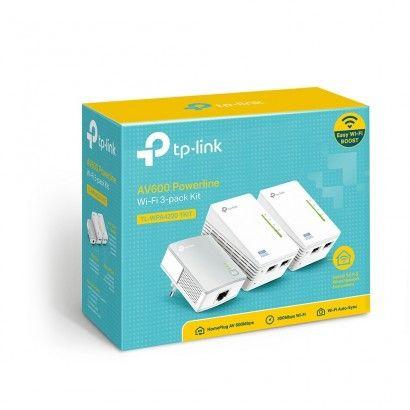 TP-Link TL-WPA4220TKIT Powerline AV600 WiFi 300Mbps - 3 pz