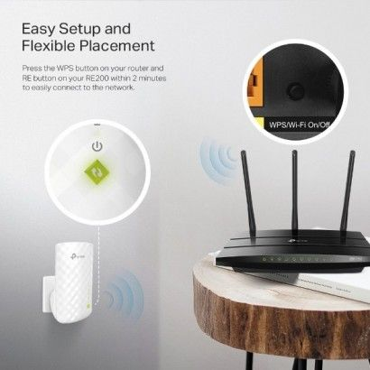 TP-Link TL-RE200 Range Extender Wireless Dual Band 750Mbps
