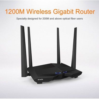 Tenda AC10 Smart Dual-Band Gigabit AC1200 WiFi Router