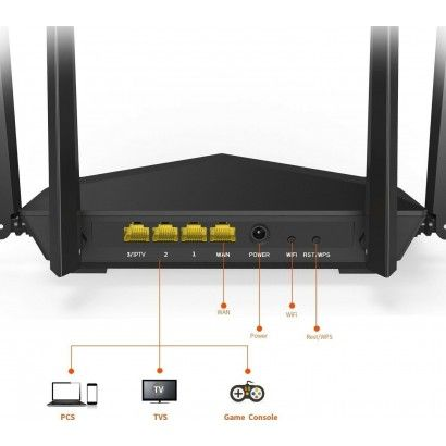 Tenda AC6 Router Wireless 1200Mbps Dual Band