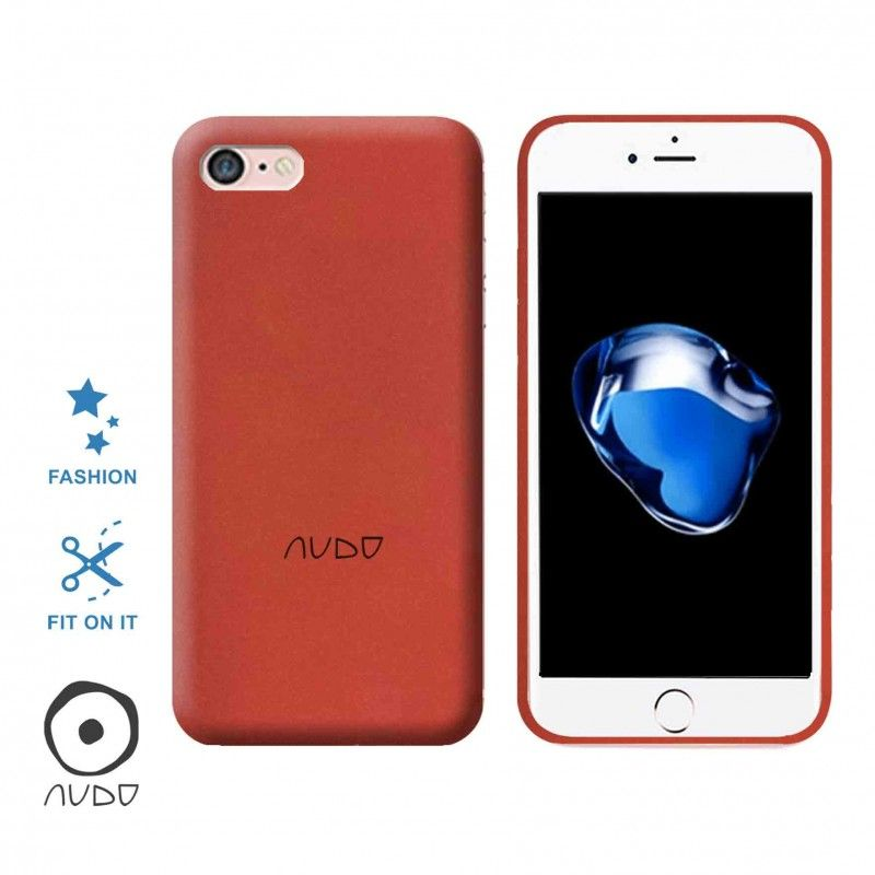 Gel Cover/Sand IPHONE 7/8 ROSSO