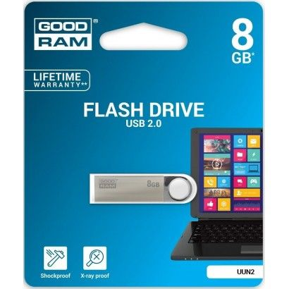Pendrive 8GB UNN2 metal USB 2.0 GoodRAM