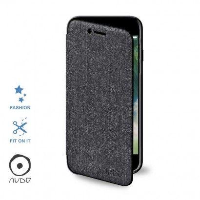 Book Case Tweed (Grigio) per IPHONE 7