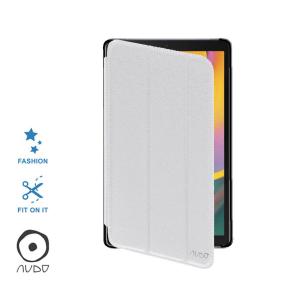Book Case Fiber Stand (Bianco) per GALAXY TAB A (10.1) 2019 T510