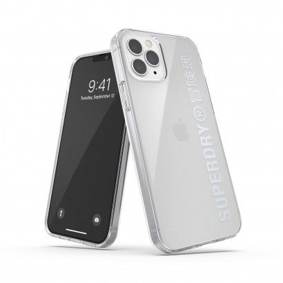 Superdry Clear iPhone 12/12 Pro Silver