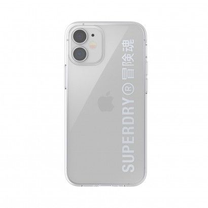 Superdry Clear iPhone 12 Mini Silver