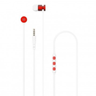 Stereo Earphones 3.5 mm Red