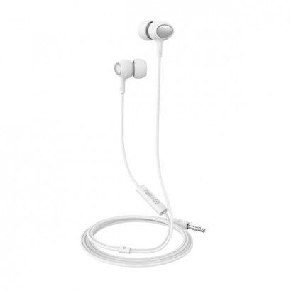 Stereo Ear 3.5mm Round Cable White