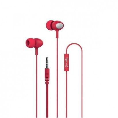 Stereo Ear 3.5mm Round Cable Red