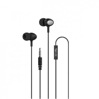 Stereo Ear 3.5mm Round Cable Black