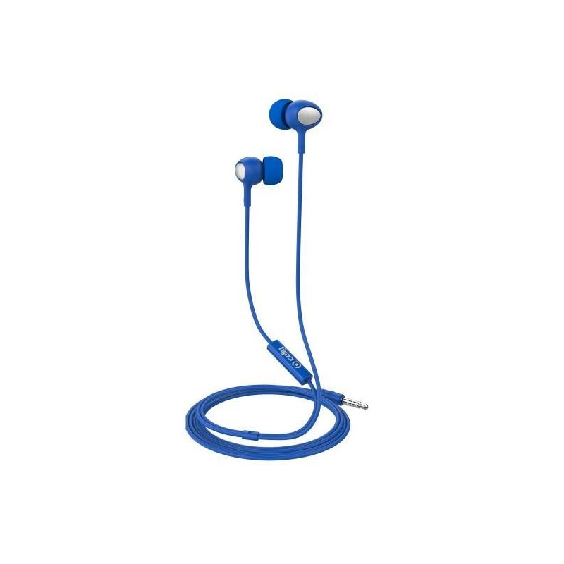 Stereo Ear 3.5mm Round Cable Blue