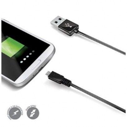 USB Data Cable MicroUSB Black