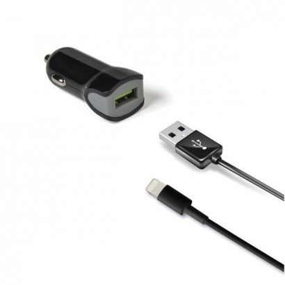 Kit Car Charger USBturbo USBlight Cable Black