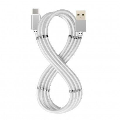 USB-A USB-C Magnet Cable Bianco