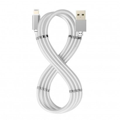 USB-A Lightining Magnet Cable White