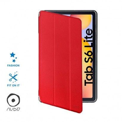 Book Case Fiber Stand (Rosso) per GALAXY TAB S6 LITE P610/P615