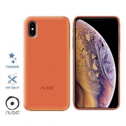 Gel Cover Fluo (Arancio) per IPHONE XS MAX